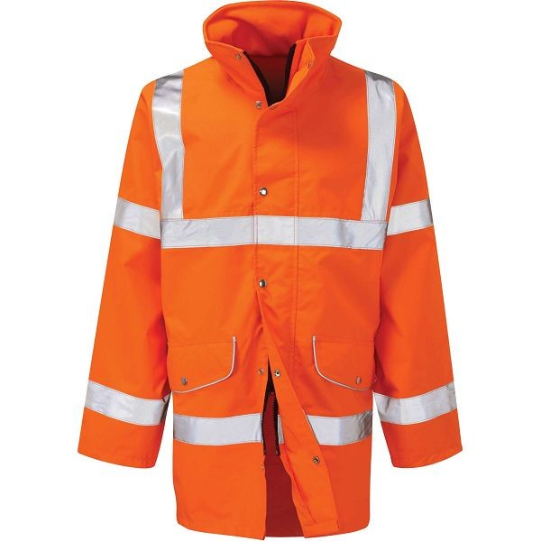 Hi Vis Sabre2 Orange Rail Spec Breathable Jacket (Pro Rail)
