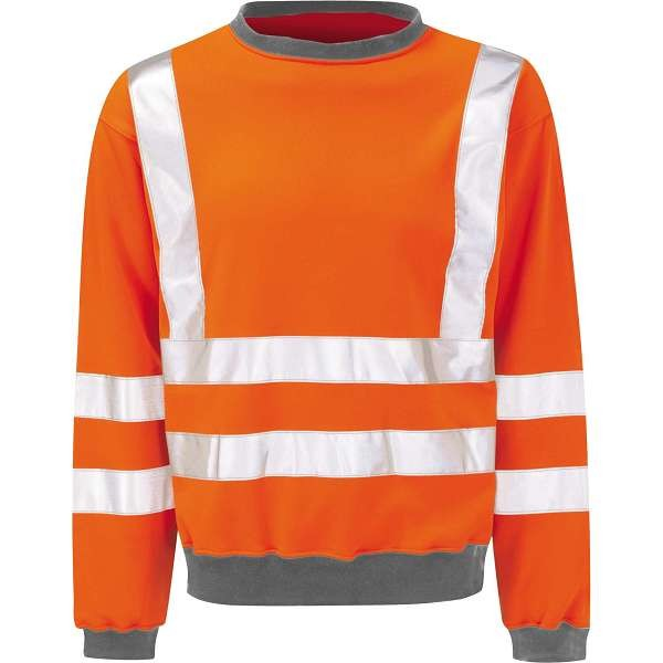 Hi Vis Sentinel Orange Rail Spec Sweatshirt (Pro Rail Black Knight)