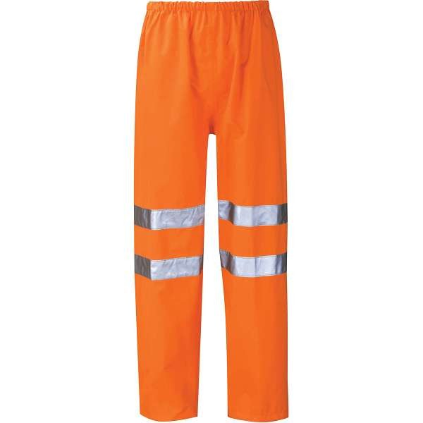 Hi Vis Thor Orange Breathable Rail Spec Over Trousers (Pro Rail Black Knight)