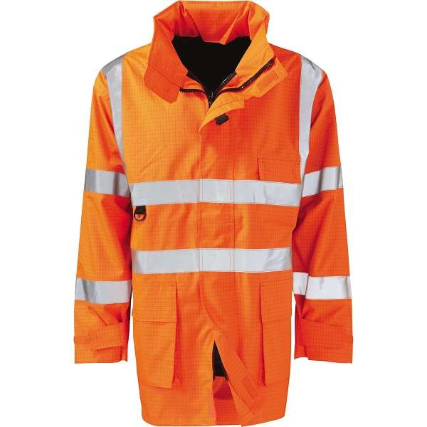 Hi Vis Vesuvius Rail Spec EN471 FR Anti Static Jacket