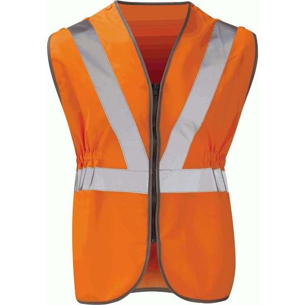Hi Vis Victoria Orange Rail Spec Zipped Waistcoat (Pro Rail Black Knight)