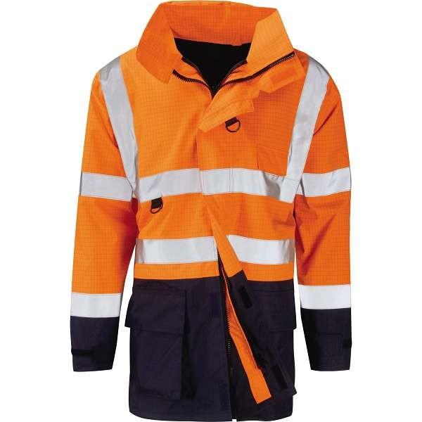 Hydra Flame Hi Vis Toba EN471 FR Anti Static 2 Tone Jacket | Work & Wear  Direct