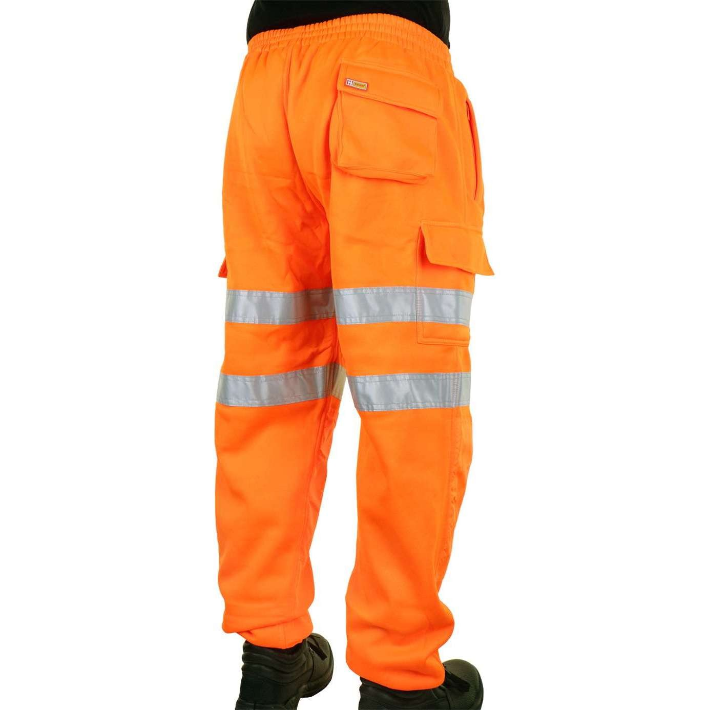 Hi Vis Orange Rail Spec Jogging Bottoms