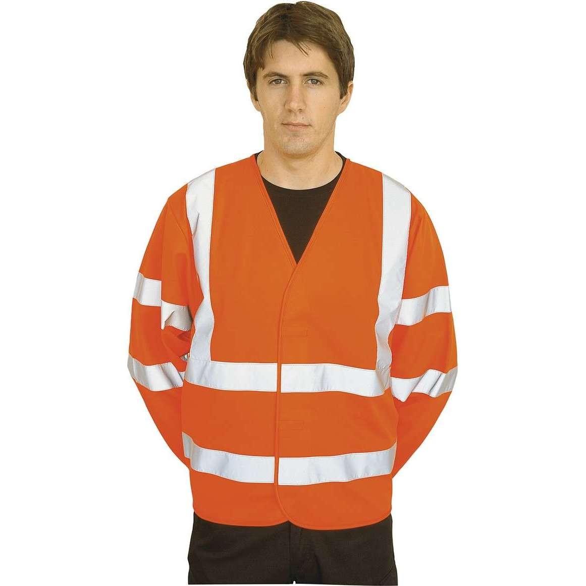 Hi Vis Portwest Rail Spec Long Sleeve Waistcoat (C473)