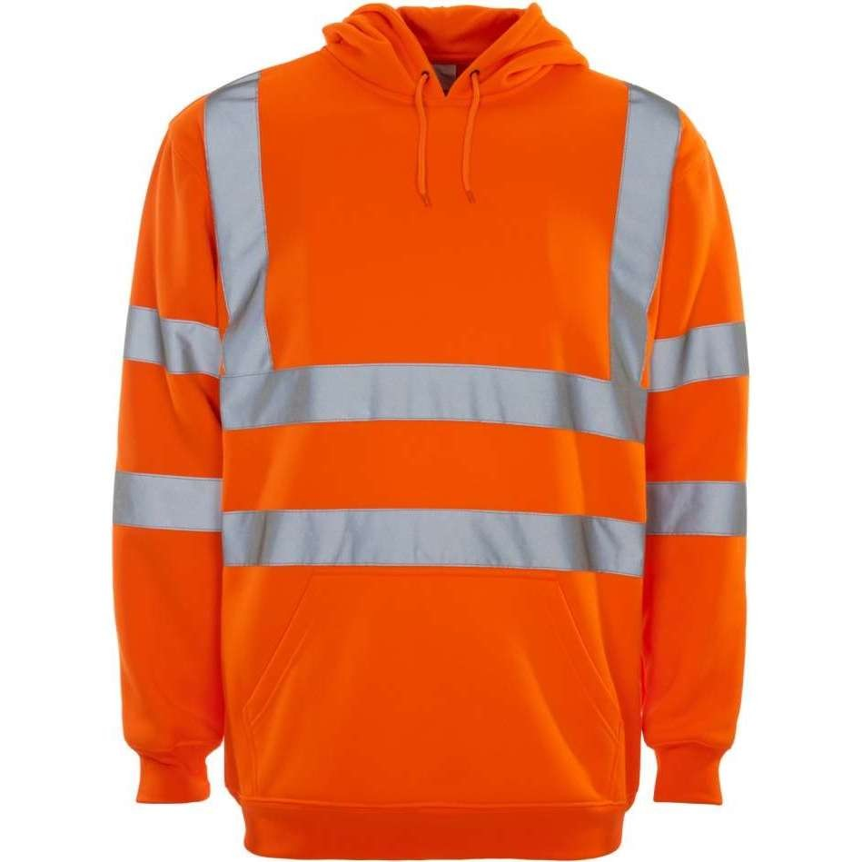 Hi Vis Rail Spec Hooded Sweatshirt