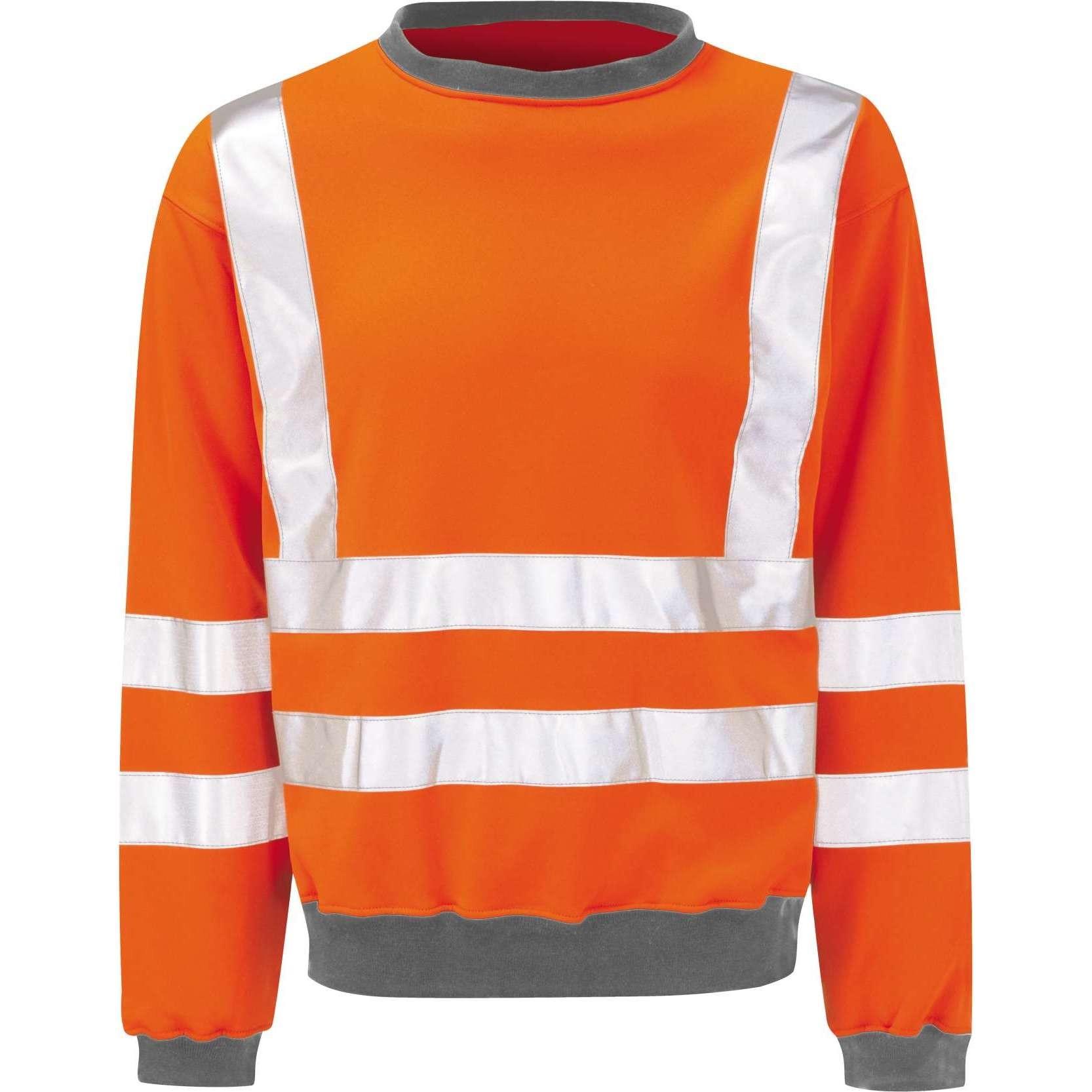 Hi Vis Sentinel Orange Rail Spec Sweatshirt (Pro Rail Black Knight)