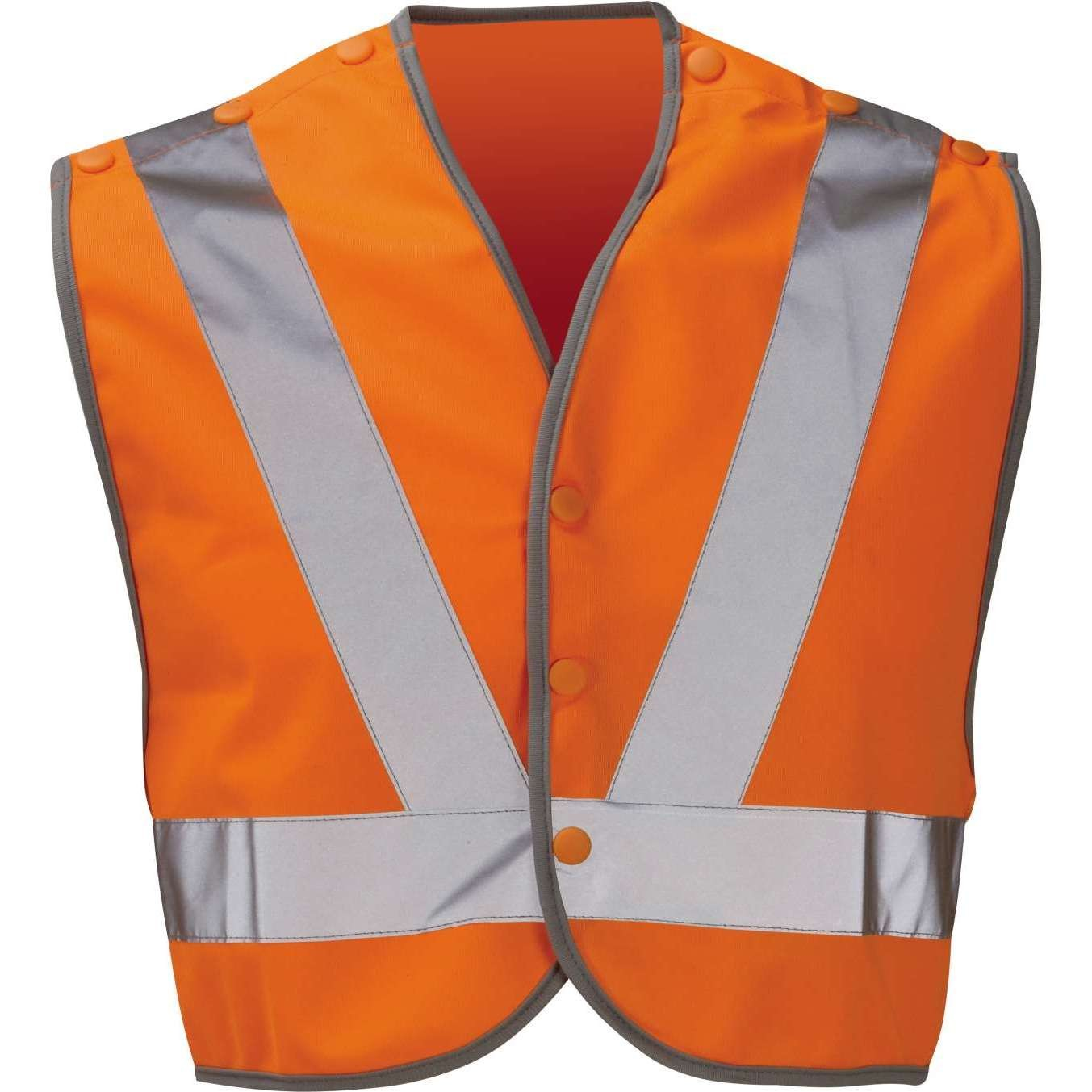 Hi Vis Waterloo Orange Rail Spec Pull Apart Poly-Cotton Waistcoat  (Pro Rail Black Knight)