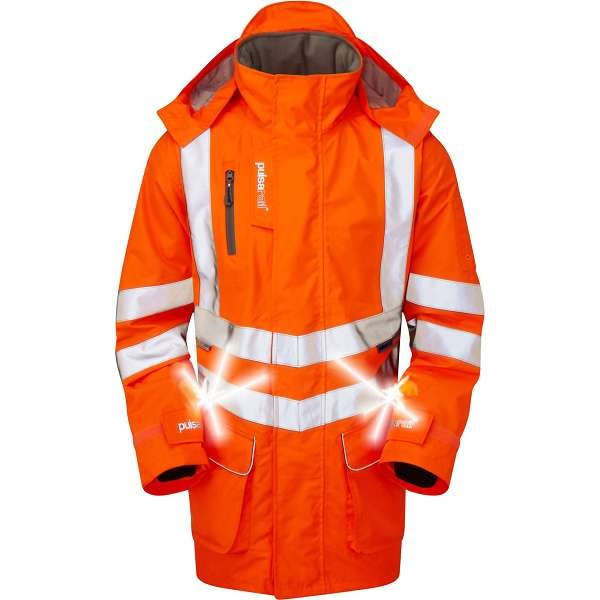 Pulsar Rail Spec Active Storm Coat With Led Lights
