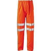 Hi Vis Victory Orange Rail Spec EN471 FR Anti Static Over Trousers  (Pro Rail Hydra Matrix)