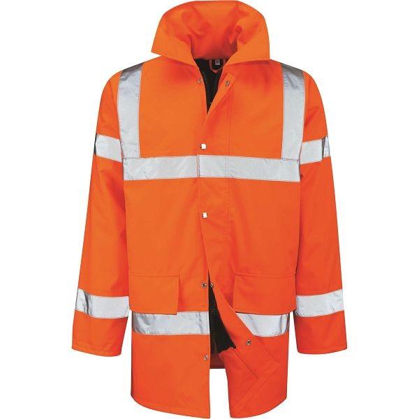 Tristan Hi-Vis Orange 3/4 Length Jacket