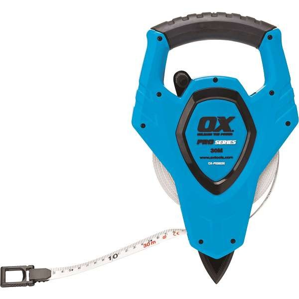 Ox Trade 30M Open Reel Tape Measure
