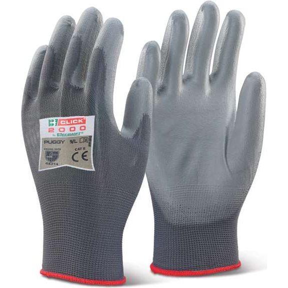 PU Coated Glove Grey (Pack 10)