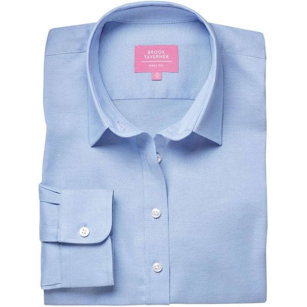 Brook Taverner Albany Ladies Long Sleeve Classic Oxford Shirt