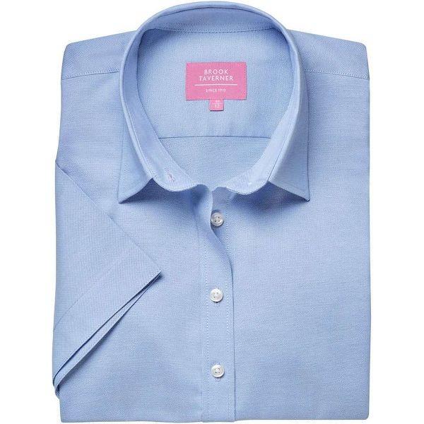 Brook Taverner Hamilton Ladies Short Sleeve Classic Oxford Shirt