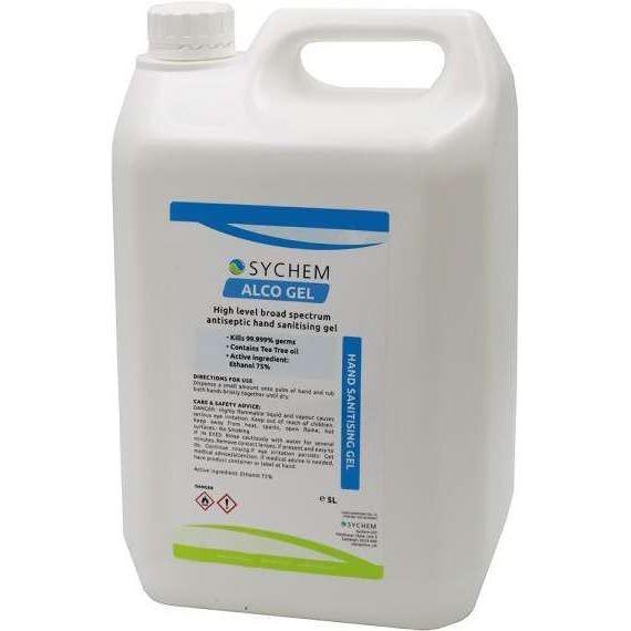 Sychem 5ltr 75 % Alcohol Based Hand Sanitiser Gel w Tea Tree