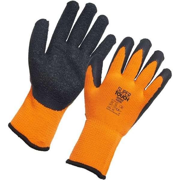 Thermal Latex Gloves Orange/Black (Topaz)