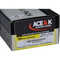 ACE & K STAINLESS STEEL STAPLES + 2 Gas Cells fits IM200