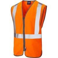 LEO Eggesford ISO 20471 Class 2 Railway Zip Waistcoat Orange