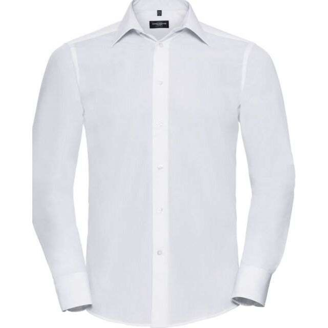 Russell Men's Long Sleeve Polycotton Easycare Fitted Poplin Shirt (924M)