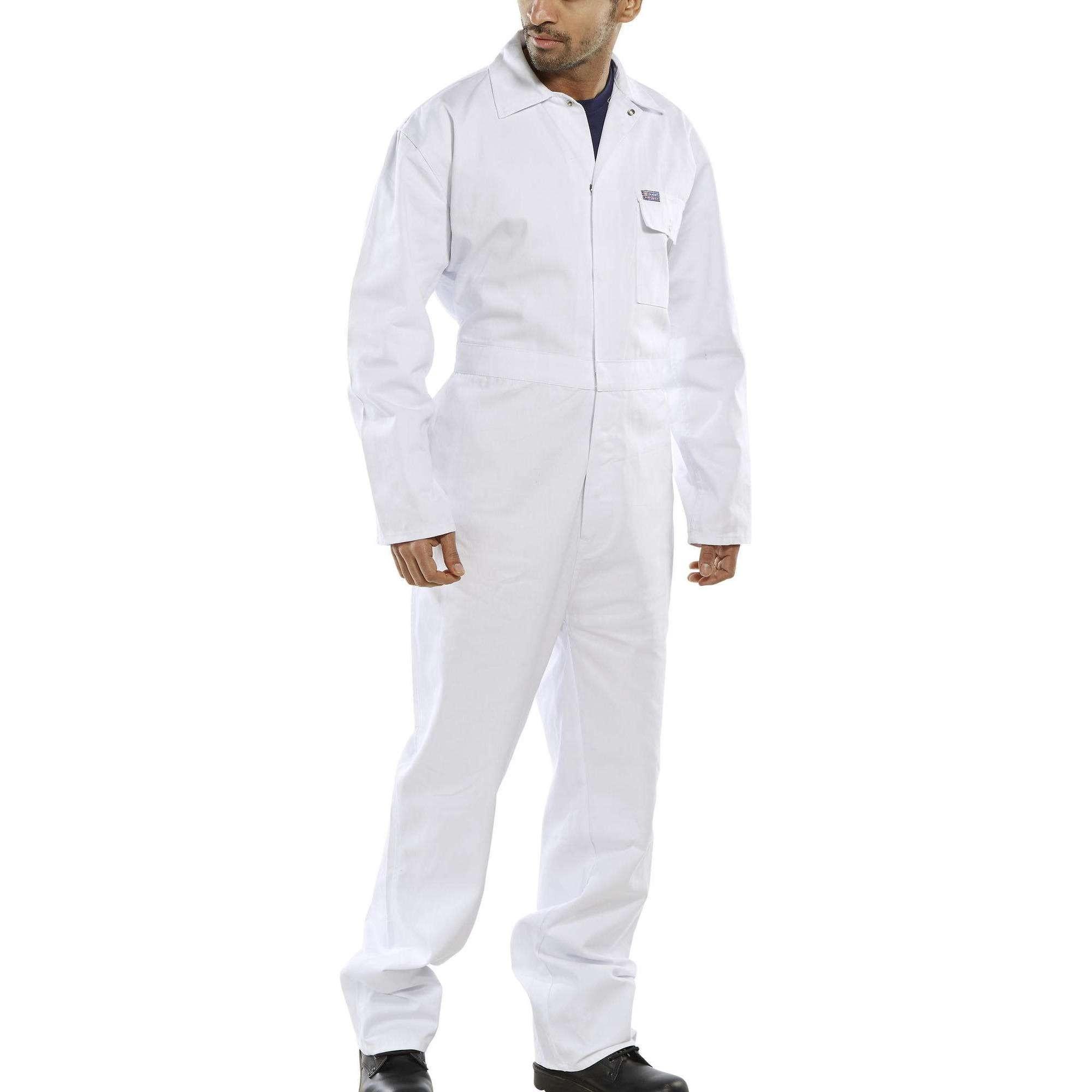 White Cotton Drill Coverall