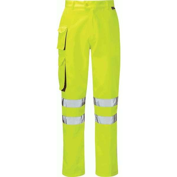 Gamma Hi Vis Yellow Combat Trousers