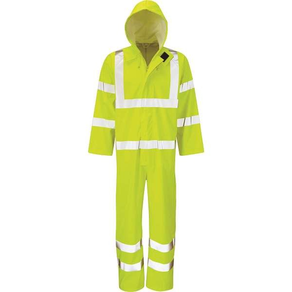 Hi Vis Hydra-Flex Yellow EN471 Waterproof Breathable Coverall