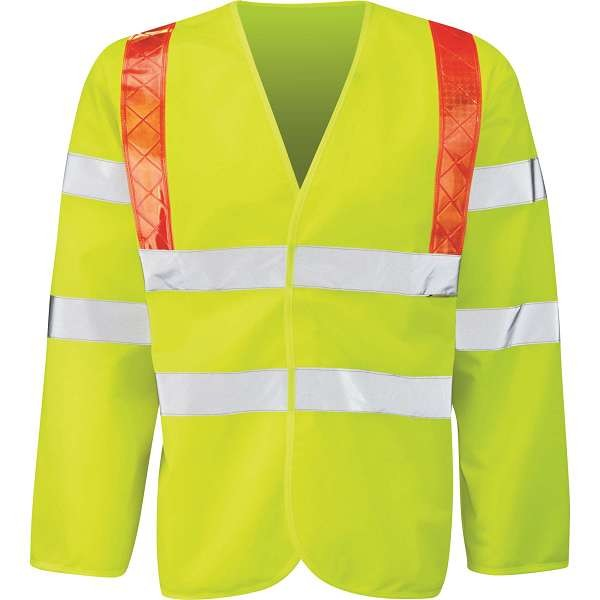 Hi Vis Jerkin With Red Braces