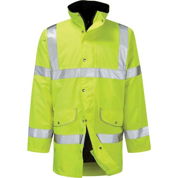 Hi Vis Rapier Yellow Breathable Coat