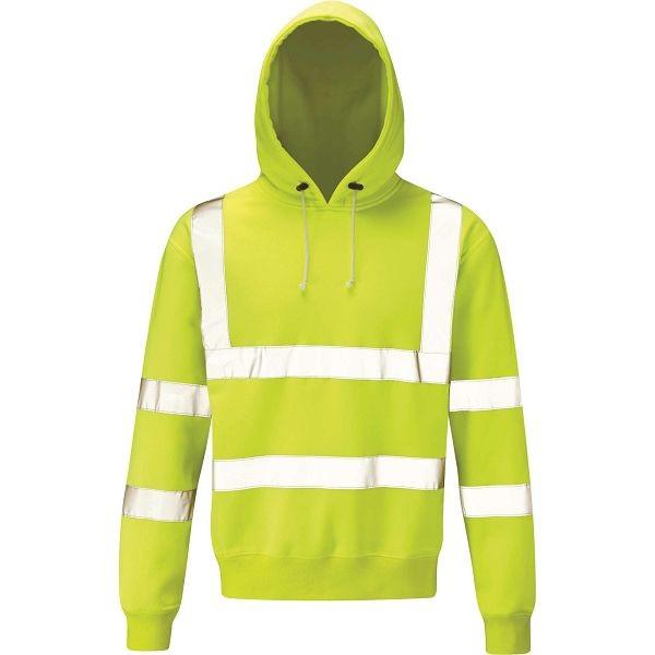 Hi Vis Yellow Hooded Sweatshirt - HVHSP