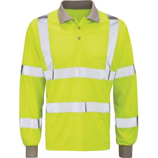 Hi Vis Yellow Long Sleeve Polo Shirt (Andromeda)