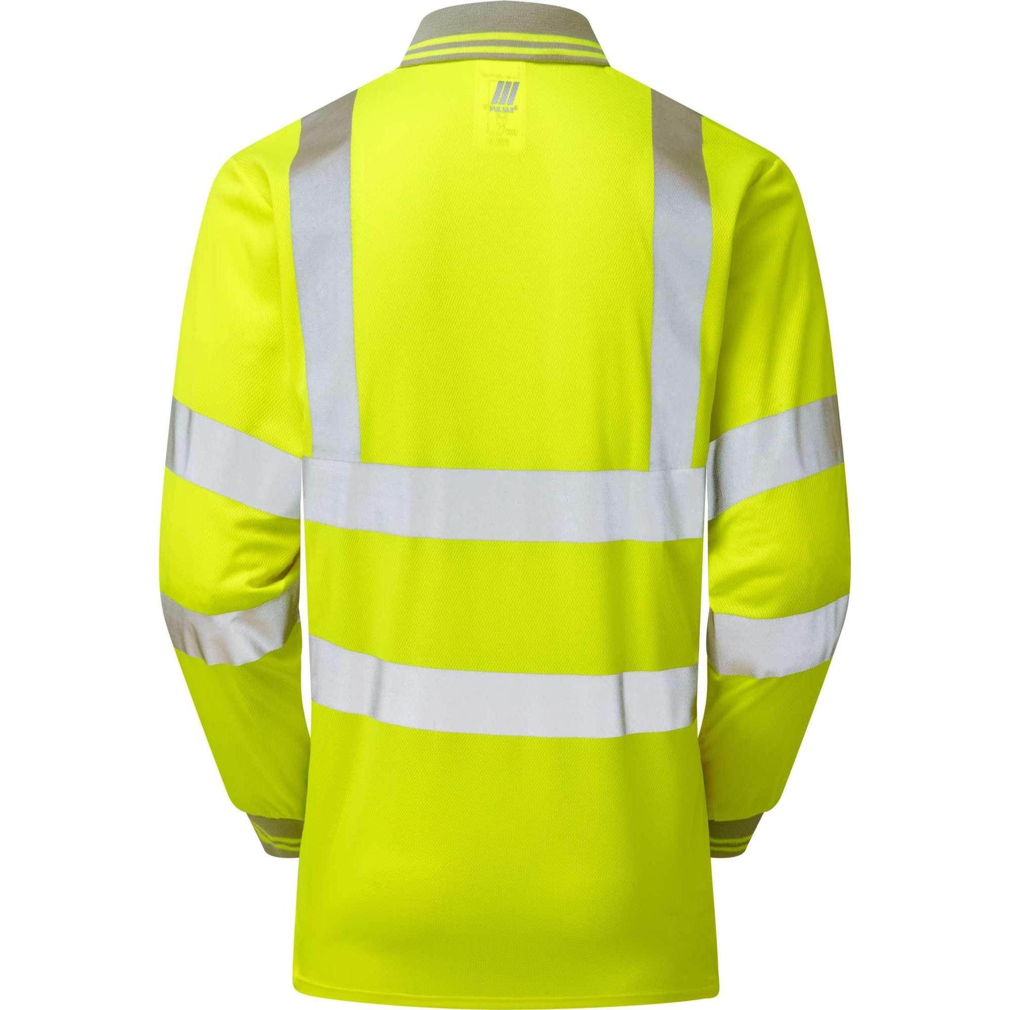 Pulsar Hi Vis Long Sleeved Polo Shirt (P458)