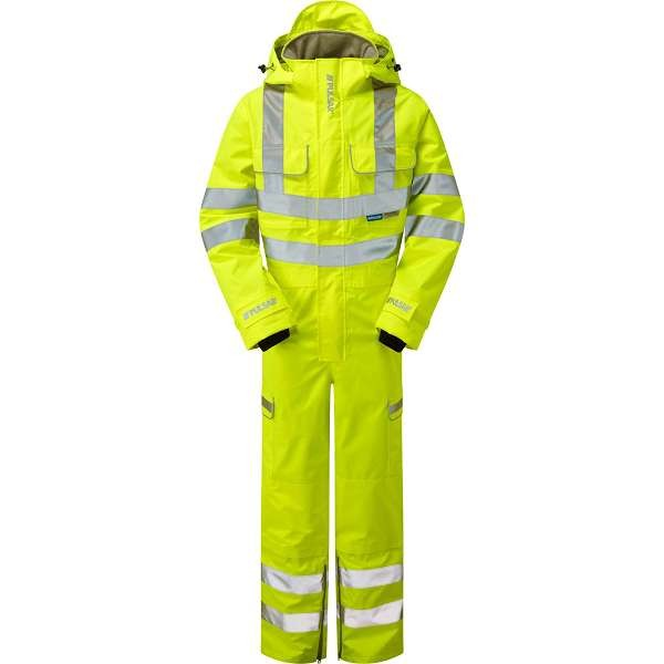 Pulsar Hi Vis Yellow Foul Weather Coverall