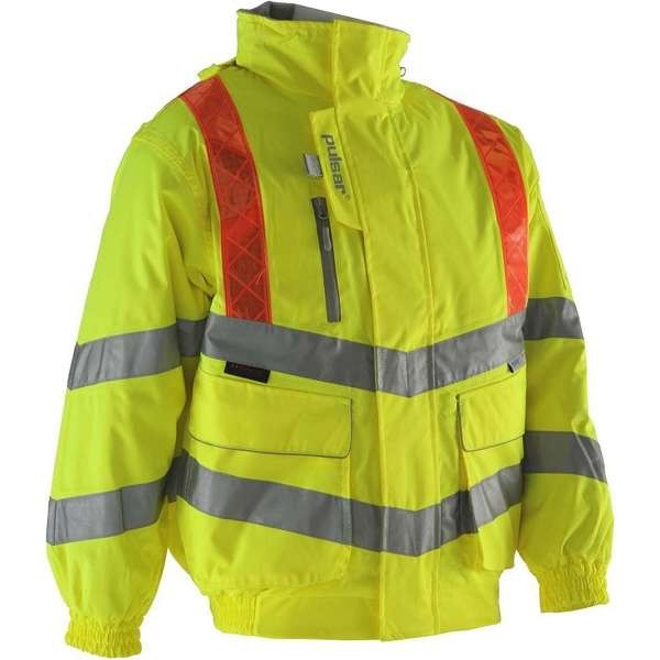 Pulsar Hi Vis Yellow Traffic Management Bomber Jacket