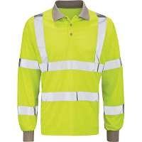 Hi Vis Yellow Long Sleeve Polo Shirt (Andromeda)